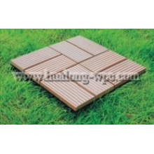 Holz-Plastikzusammengesetzte Decking-Fliese für im Freien (DIY-2)