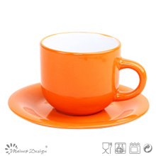 SHINNING COLORFUL 8OZ COFFEE CUPS AND SAUCERS