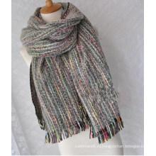 Кашемир женщин как чешские вязаная Зимняя тяжелая волна печати шарф шаль (SP302)