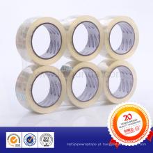 Fita de embalagem adesiva Crystal Clear BOPP transparente
