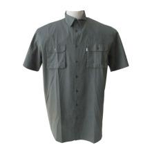 仕事男性用ポリエステル ショート シャツ