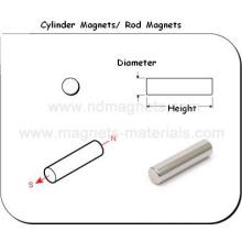 Cilindro NdFeB Ímãs com desenho de engenheiro