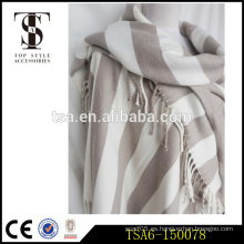 Pañuelos de peso pesado simple poncho doble toalla de playa poncho de invierno con acabados tassel Calidad Choice
