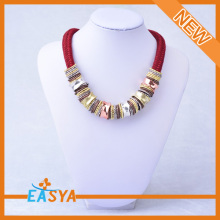 Polychrome Necklace Layers Of The Chain Necklace Brass Chain Necklace With Colorful Decoration