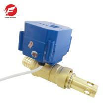 Válvula de controle de água elétrica automática de bola de 3 vias