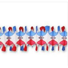 2015 nouvelle conception 12 pieds patriotique araignée frange papier guirlande
