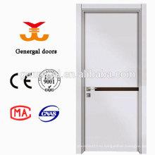 Современная меламин деревянная дверь с твердым сердечником