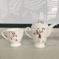 Céramique Bone Porcelaine One Pot One Cup Set