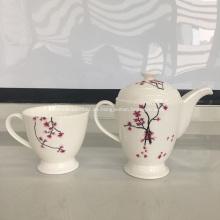 Juego de tazas de cerámica, porcelana, hueso, porcelana, olla