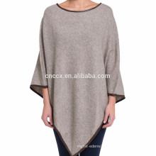 15PKCSP10 cotton cashmere winter warm poncho sweater