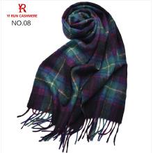 Innere Mongolei Spot Großhandel Hersteller von reiner Wolle Plaid Schals SWI0002men Wolle Plaid Schals