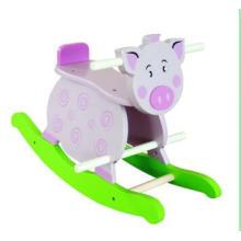 Chaise bébé en bois Rocker Pig pour enfants et enfants