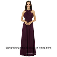 Mulheres Chiffon mangas damas de honra vestidos vestido de festa de casamento