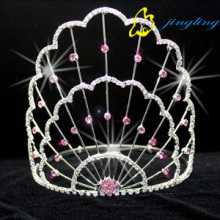 New Copper Line Crown Pink Rhinestone Tiara