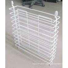 White Powder Coating Metal Hanging Display Rack Shelf (CJ0003)