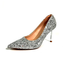 Best selling new  arrival  2021 classic stylish  5 cm middle heel Pointed Toe wedding lady dress shoes