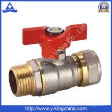 Pex Pipe Female Nickel Plated Brass Ball Valve (YD-1042)