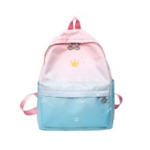 Pink Rainbow School Backpacks Pastel Theme Student Backpack Kids Travel Backpack for Girls