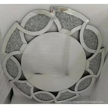 Petal shape crystal diamond hanging mirror