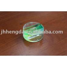 round bubble level vial