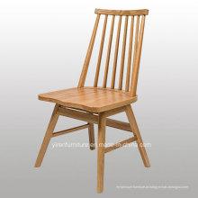 Cadeira de Jantar de Madeira Maciça de Alta Qualidade