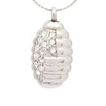 Pingente de cristal especial para cinzas, jóias de prata cremação cinzas pingente