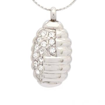 Colgante de cristal especial para cenizas, colgante de cenizas de cremación de joyería de plata