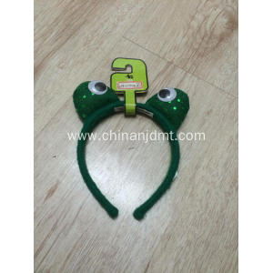 Green frog head hoop