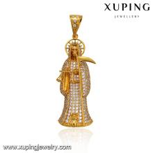 33062 xuping 24k gold plated Egyptian pharaoh religion costume stone pendant