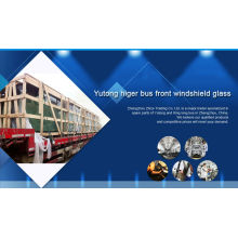 hot sale front windshield glass for yutong higer bus