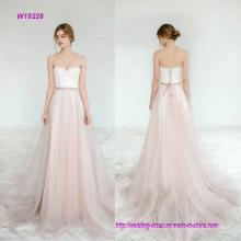 Strapless Chiffon A Line Wedding Dress