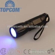 Alta potencia 3W LED UV linterna