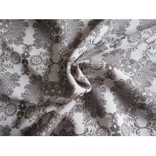 Tela de satén de seda de imitación de hilo compuesto con impresión (XSC002))