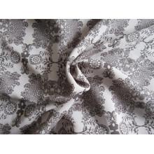 Tissu en satin satiné en imitation de fil composite avec impression (XSC002))