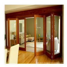 Foshan supplier 6mm laminated double glazed  aluminum folding door profile