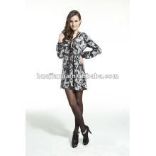 Elegante Damen V-Ausschnitt Pullover Kleid / Antipilling Kaschmir