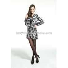 Элегантные дамы V шеи свитер платье /antipilling кашемир