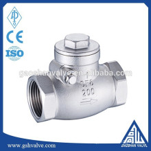 screwed end swing check valve stainless steel