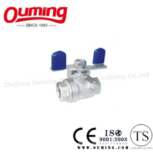 Light Type Stainless Steel Ball Valve with Butterfly Handle