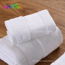 Hotel linen/Wholesale bulk plain white cotton towel hotel face towel