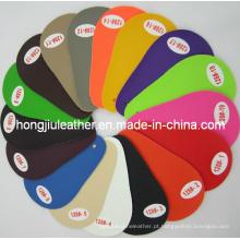 Fornecimento de couro artificial de PVC colorido para carro (128 #)