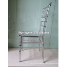 Plastic Pure polycarbonate chiavari chair