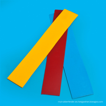 Hoja de espesor de PU de 1 mm de color rojo para guardabarros