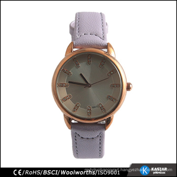 Shining rose gold watch lady stones geneva quartz wrist watch