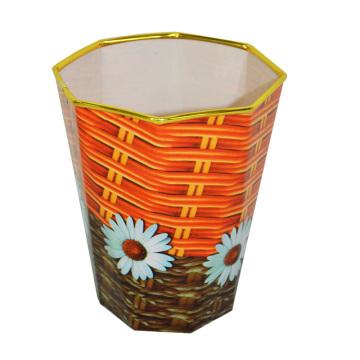 Cubo de basura de plástico abierto de polígono de plástico para el hogar / oficina / dormitorio (B06-873)