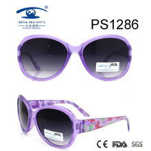 Cute Bultterfly Patten Colorful Kid Plastic Sunglasses (PS1286)