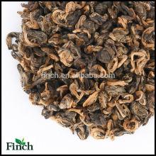 Vente chaude Chinois Yunnan UE Standard Noir Thé En Forme de Spirale En Forme D'escargot D'or Noir Thé ou Or Bi Luo Chun Thé Rouge