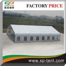 2015 Neues Produktzelt 18x20m Gekrümmtes Zelt mit weißem PVC-Dach und Seitenwänden