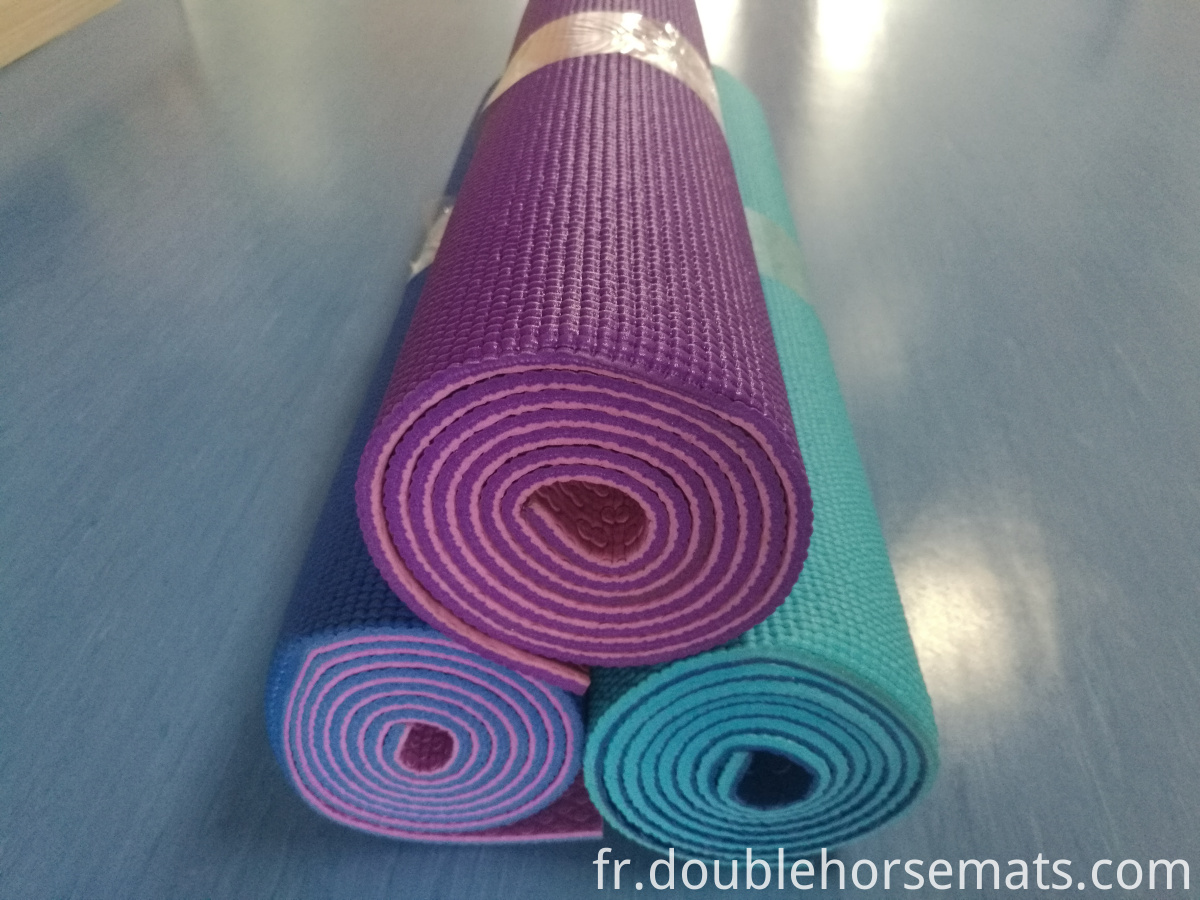 PVC double color yoga mat