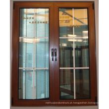 ALUMÍNIO janela de madeira de forma diferente